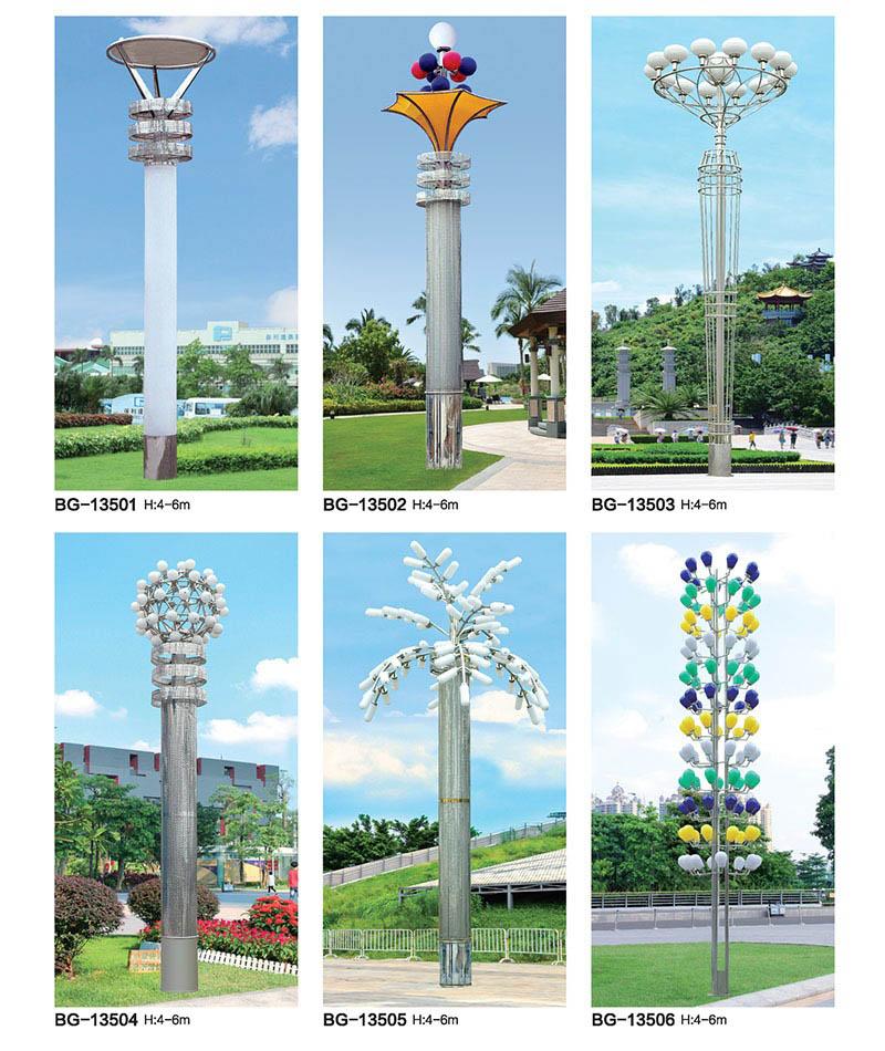 QDJGD-BG135广场多头造型不锈钢LED景观灯
