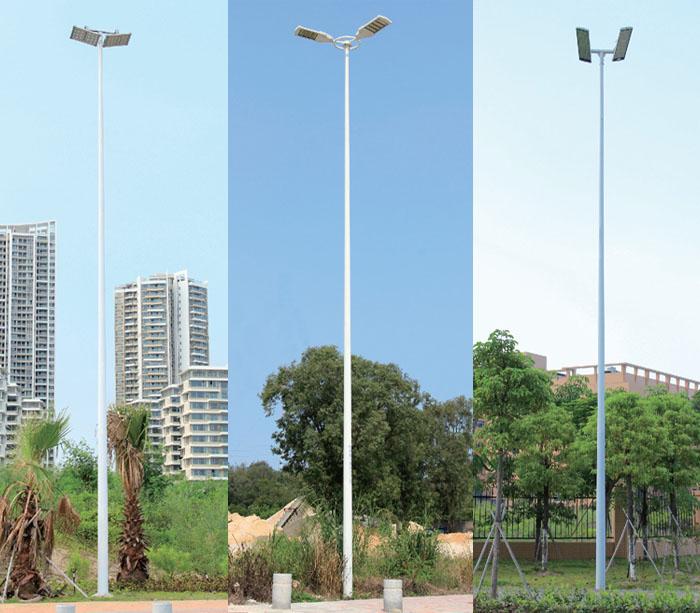 8米-15米LED投光灯双头中杆灯\球场灯灯杆
