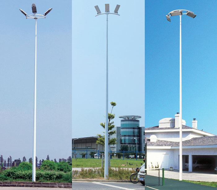 8米-15米半圆弧形LED投光灯照明中杆灯