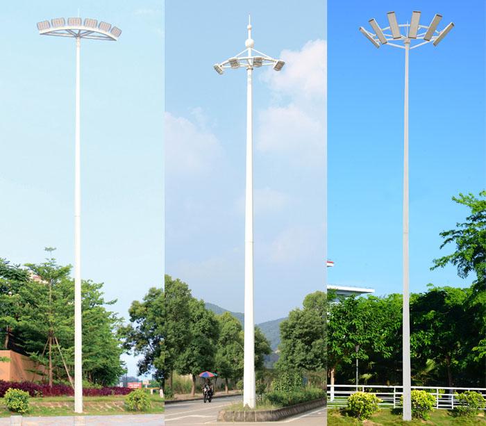 8米-18米半圆弧灯盘多头LED中杆灯