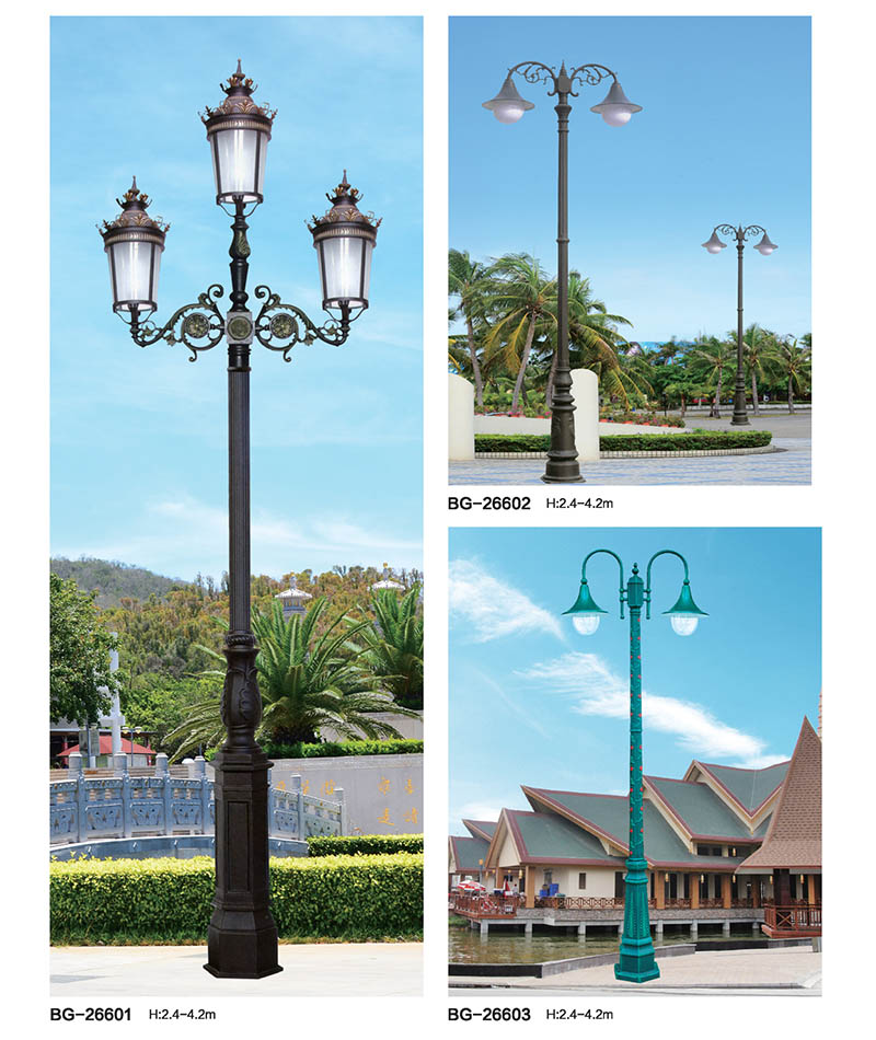 QDTYD-BG266欧式风格三头压铸铝景观庭院灯