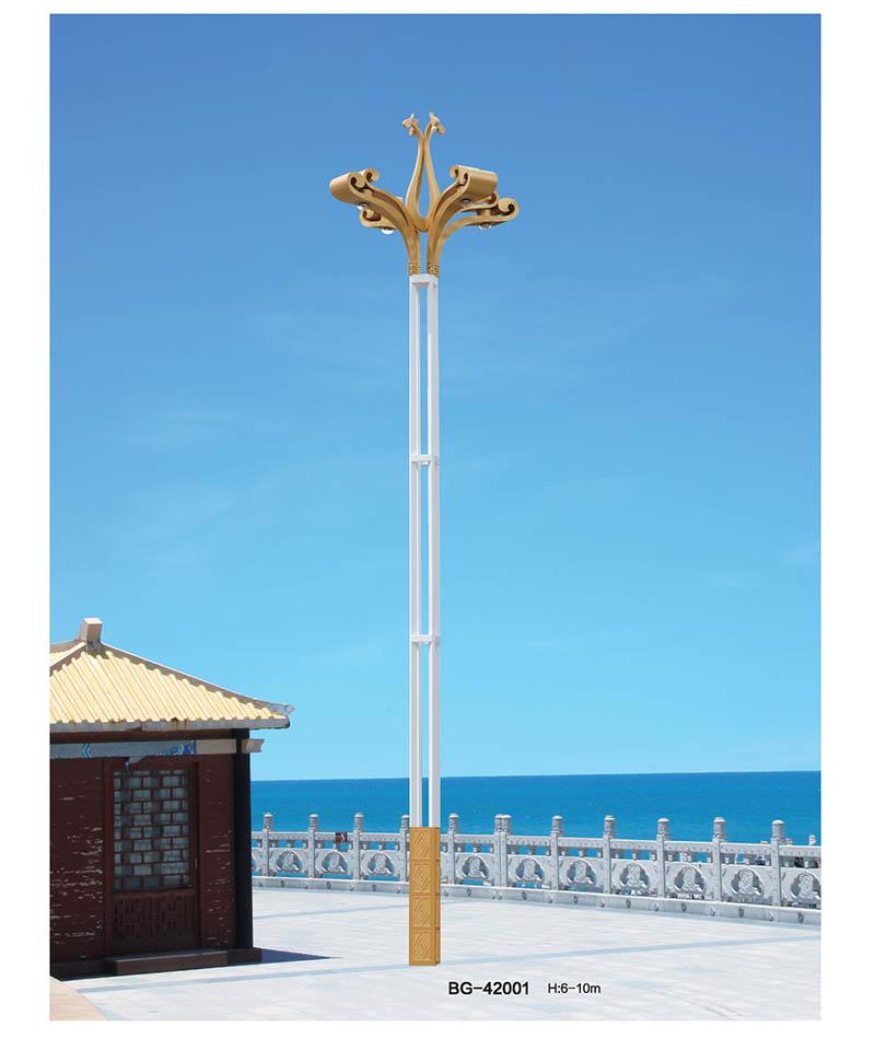 新款孔雀造型LED玉兰灯景观路灯