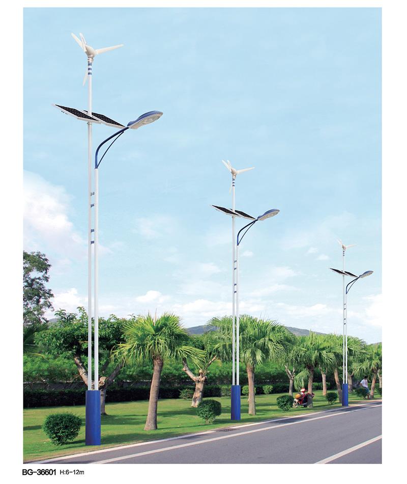 QDTYN-LDBG266双杆单臂LED风光互补太阳能路灯