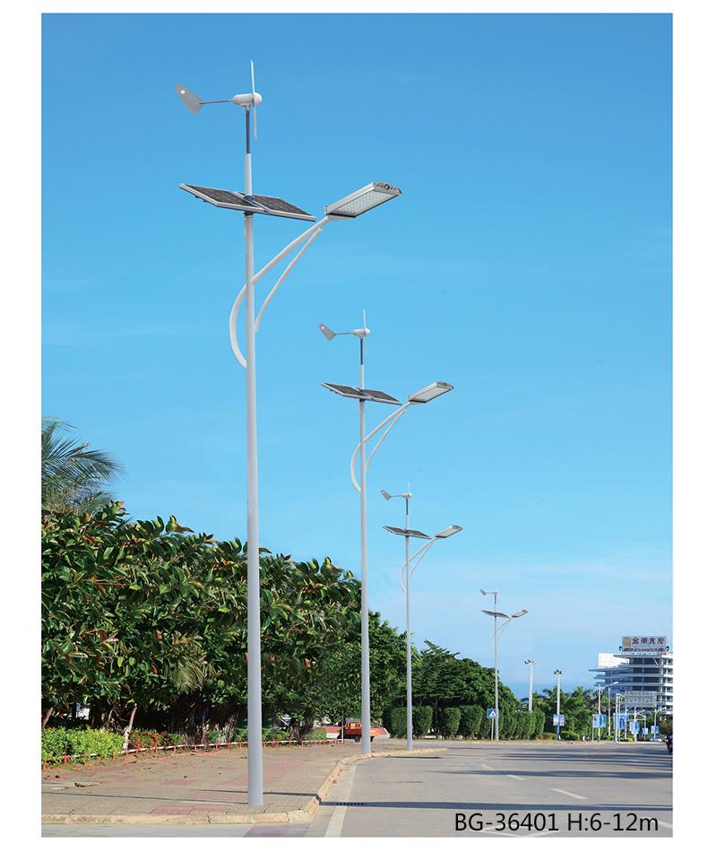 QDTYN-LDBG364大功率LED风光互补太阳能路灯