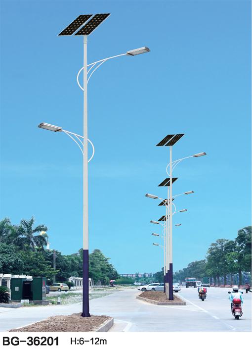 单杆高低双臂LED太阳能路灯