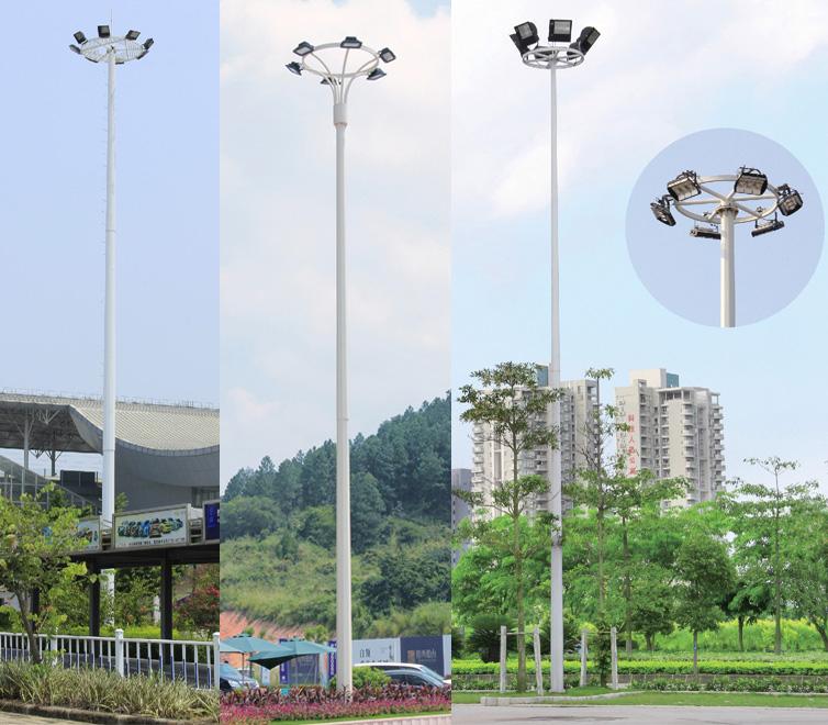 七度照明18米-25米广场LED高杆灯