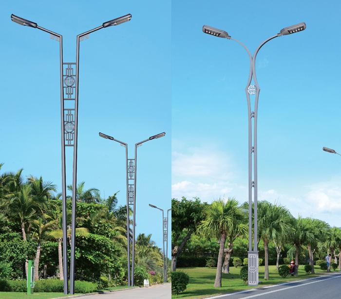 定制特色双杆双臂景观道路灯杆