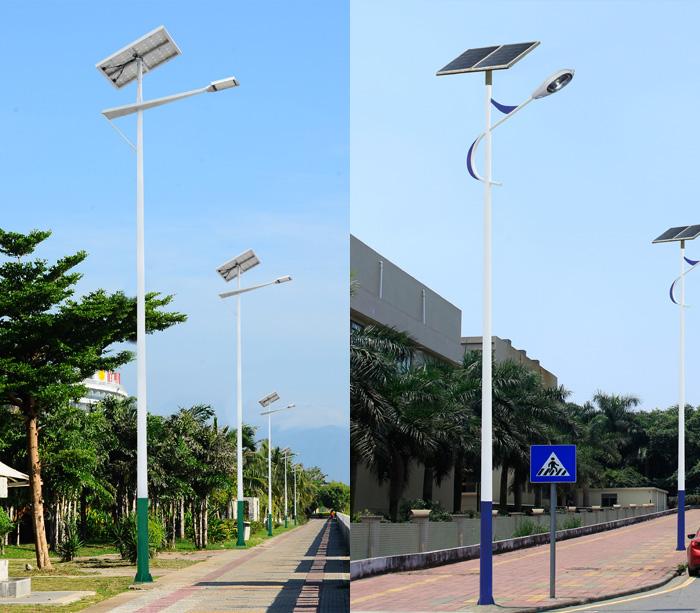 6米-12米锥杆单臂太阳能LED路灯