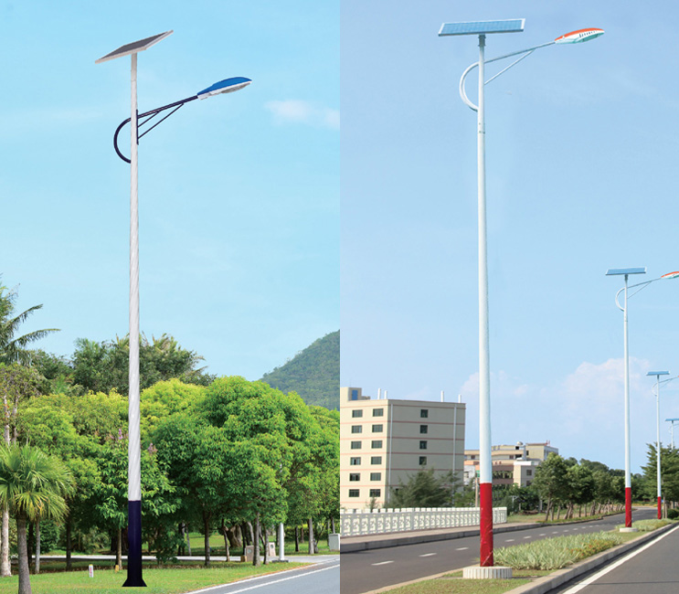 农村道路照明人字臂单臂LED太阳能路灯