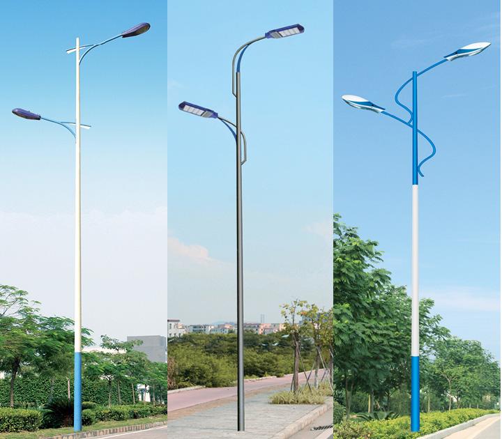 8米-12米单杆高低臂路灯杆
