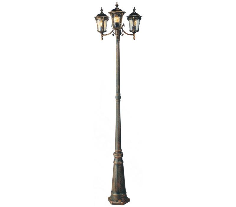 满江红-仿古铜三头压铸铝庭院灯图片