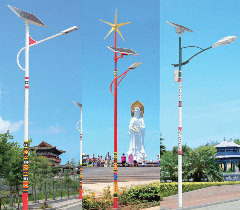 民族文化特色太阳能LED路灯图片