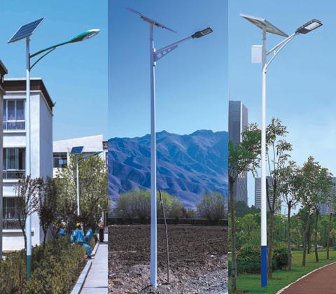 东莞七度照明常规分体式LED太阳能路灯图片