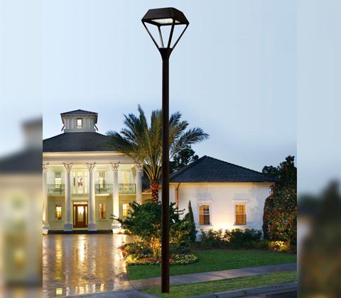 东莞七度照明(QDTYD-009)3米-5米钻石型单头LED现代庭院灯