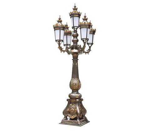 (QDTYD-JZ001)仙鹤精铸铝欧式仿古庭院灯